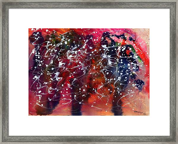 Hail Storm  Framed Print