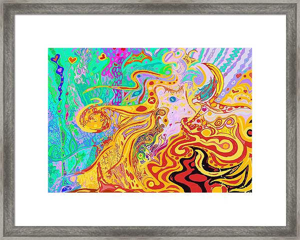 Hair Of The Divine Universe Framed Print