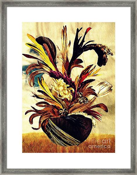 Hairflower Arrangement 2 Framed Print