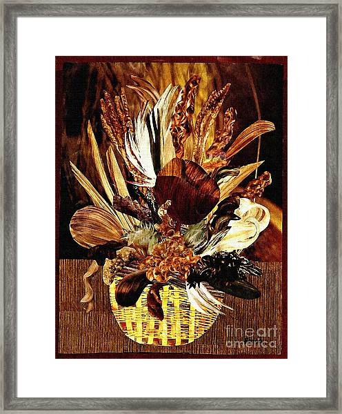 Hairflower Arrangement Framed Print