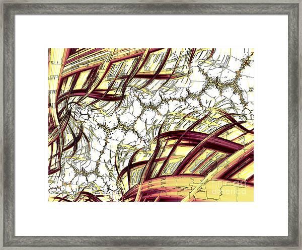 Hairline Fracture Framed Print