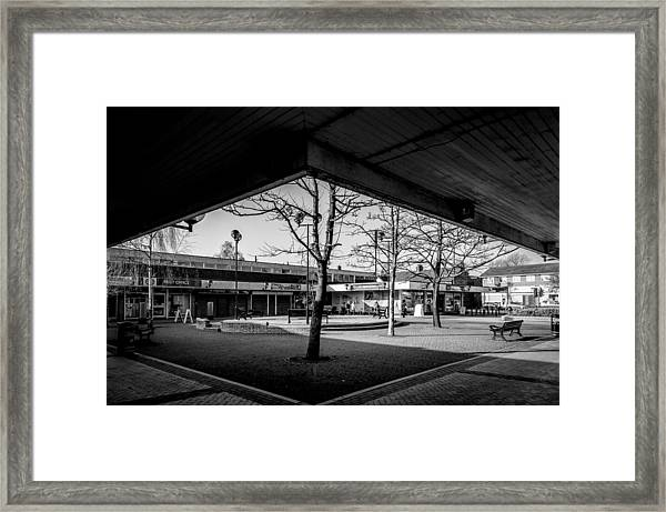 Hale Barns Square As It Used To Be Framed Print