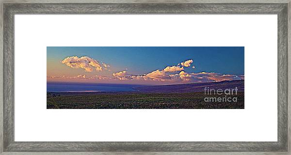 Haleakala In Sunset Clouds Framed Print