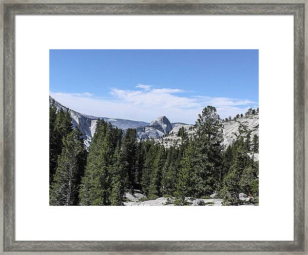 Half Dome From Olmstead Point Yosemite Valley Yosemite National Park Framed Print