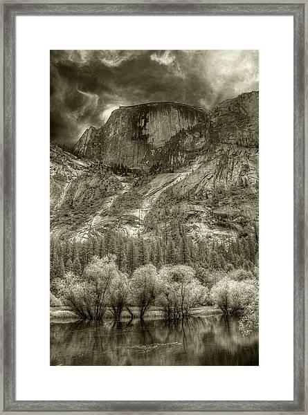 Half Dome Over Mirror Lake Framed Print