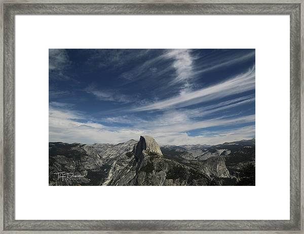Half Dome Sky Framed Print