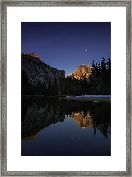 Half Dome, Twilight Framed Print