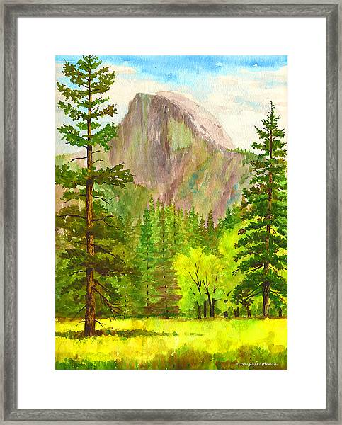 Half Dome With Trees Framed Print