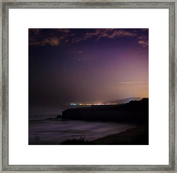 Half Moon Bay Aglow Framed Print
