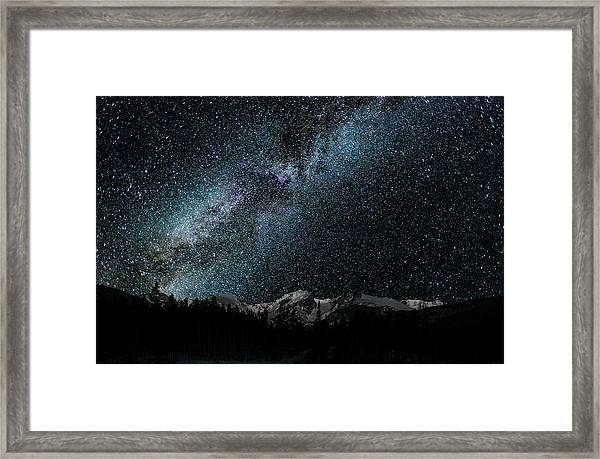 Hallet Peak - Milky Way Framed Print