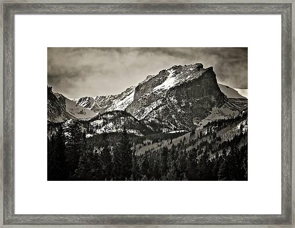 Hallet Peak, Rocky Mountain National Park Framed Print