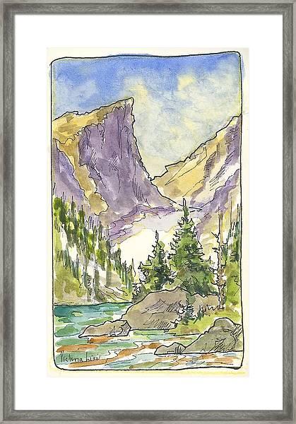 Hallett's Peak Framed Print