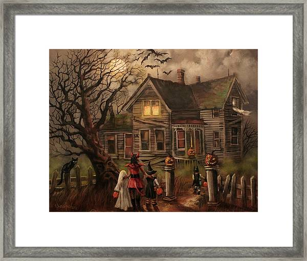 Halloween Dare Framed Print