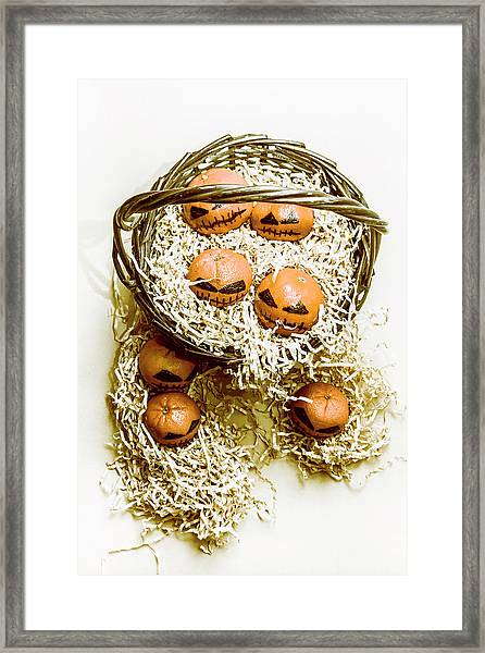 Halloween Food Decoration Framed Print