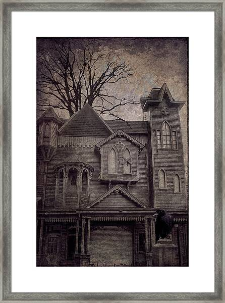 Halloween In Old Town Framed Print