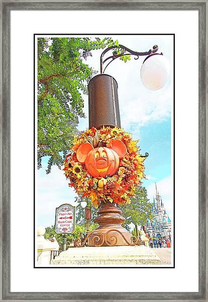 Halloween In Walt Disney World Framed Print