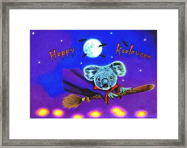 Halloween Koala, Happy Koalaween Framed Print