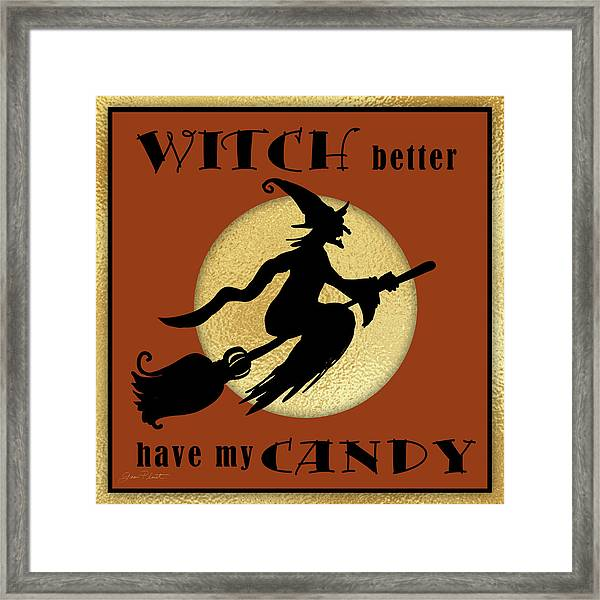 Halloween Sign 7 Framed Print