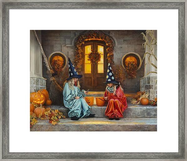 Halloween Sweetness Framed Print