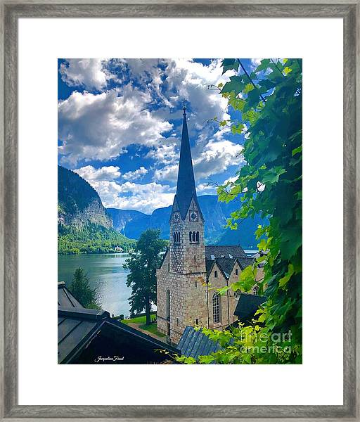 Hallstatt Church Framed Print