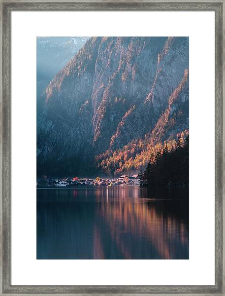 Hallstatt Fall Framed Print