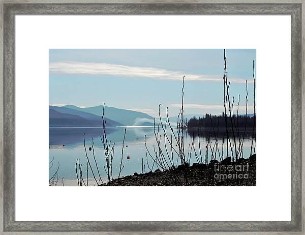 Halo On Copper Island Framed Print