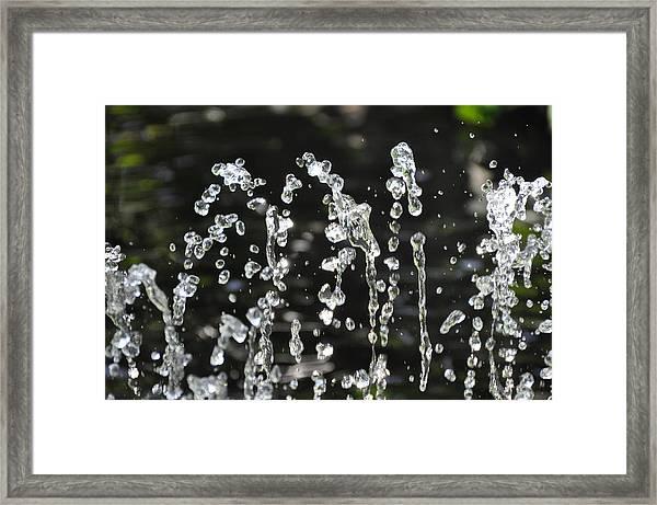 Halted Fountain Framed Print by John Ricker