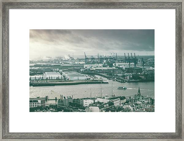 Hamburg Port  Framed Print