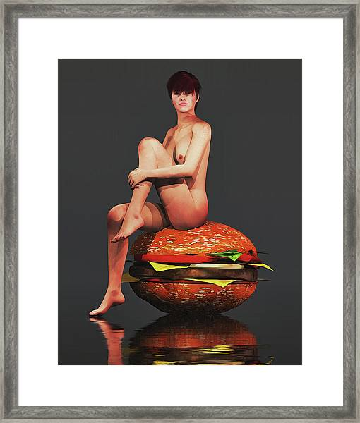 Framed Print featuring the painting Hamburger by Jan Keteleer