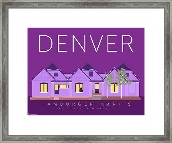 Hamburger Mary's Framed Print