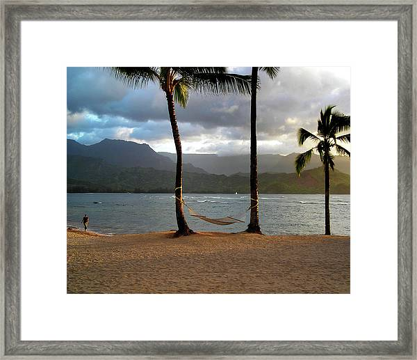 Hammock At Hanalei Bay Framed Print