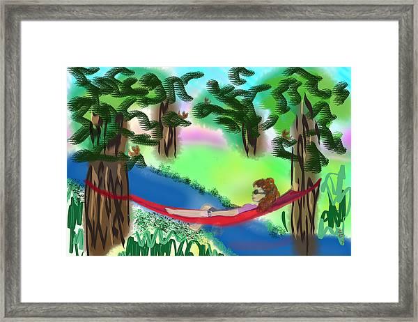 Hammock Under The Chihuahua Trees Framed Print
