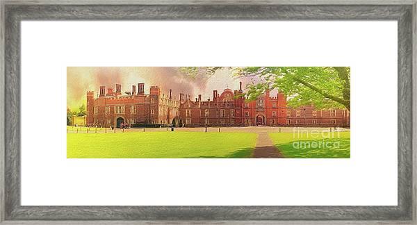 Hampton Court Palace Panorama Framed Print