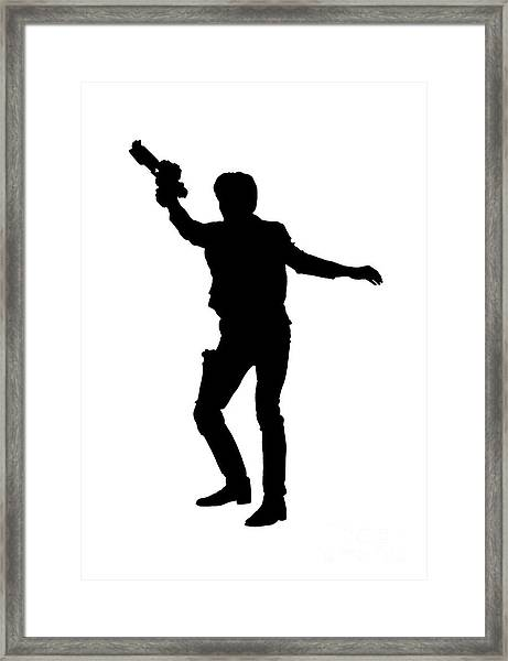 Han Solo Star Wars Tee Framed Print