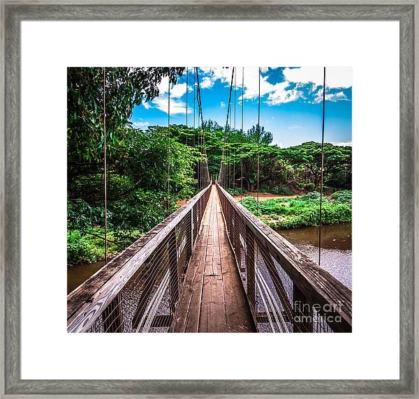 Hanapepe Bridge Framed Print