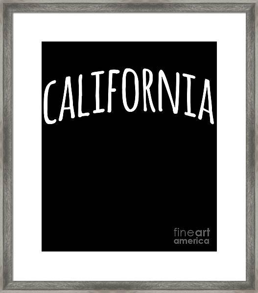 Hand California Framed Print