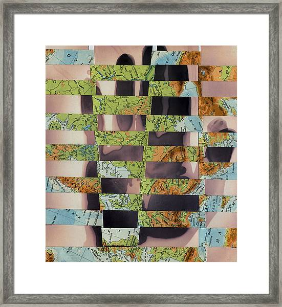 Hand Collage 2 Framed Print
