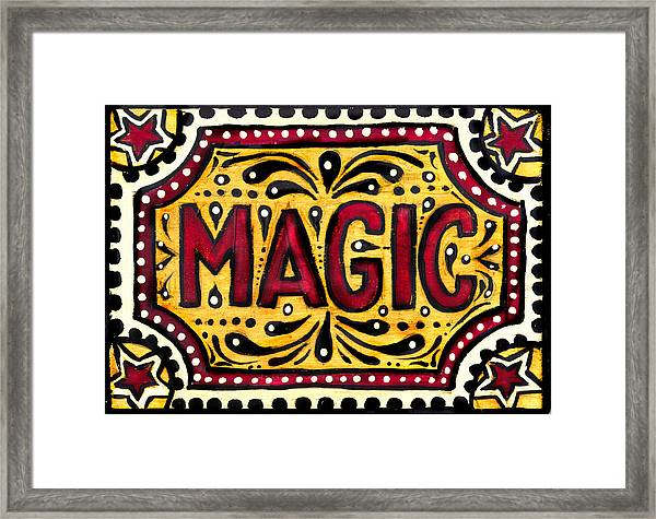 Hand Painted Magic  Framed Print