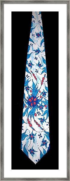 Hand Pinted Tie Framed Print