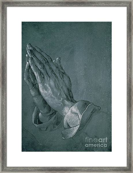 Hands Of An Apostle Framed Print