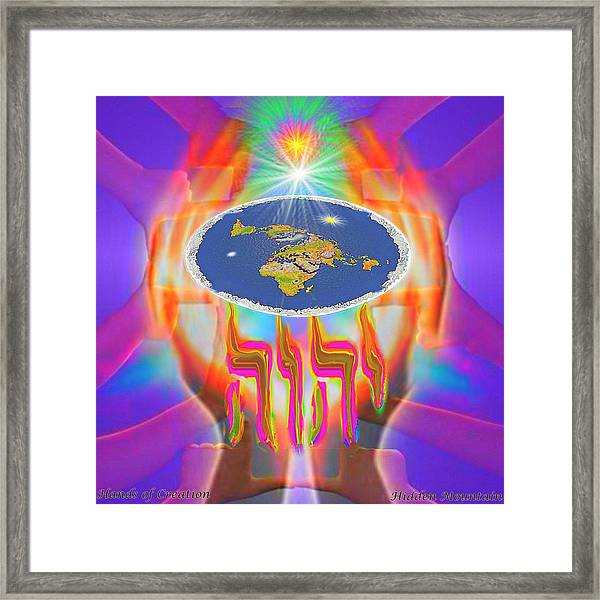 Hands Of Creation Framed Print