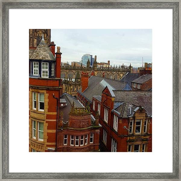 Hands Up Who Knows Which Uk City This Framed Print by Dante Harker