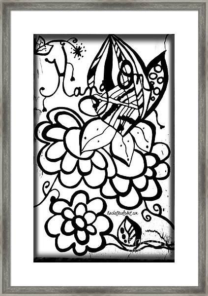Framed Print featuring the drawing Hang On by Rachel Maynard