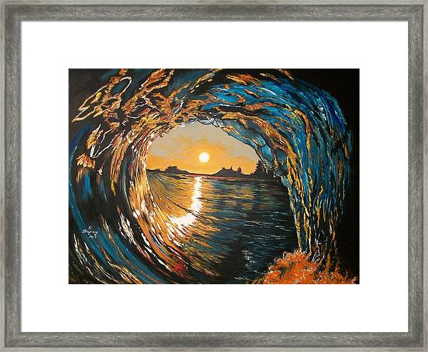 Hang Ten In Tofino Framed Print
