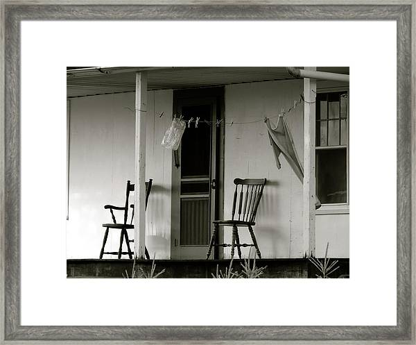 Hanging Out On The Porch Framed Print