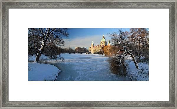 Hanover In Winter Framed Print