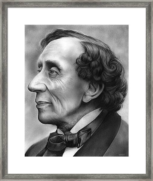 Hans Christian Andersen Framed Print