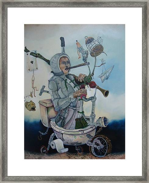 Happily Poor Framed Print