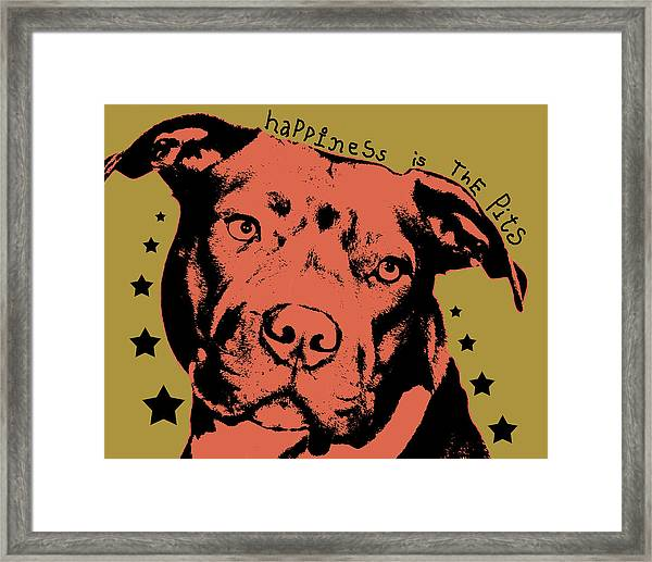 Happiness Is The Pits Duo Tone Framed Print