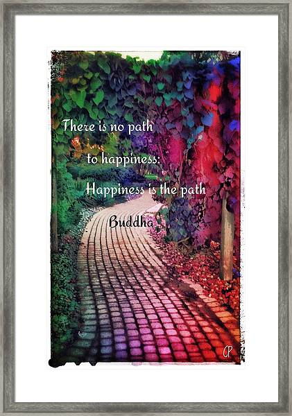 Happiness Path Framed Print